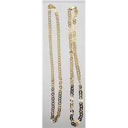 2-18 INCH GOLD TONED ITALY STERLING NECKLACES