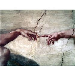 "Michelangelo's ""Creation of Adam"" Sistine Chapel Italian Ceramic Tile"