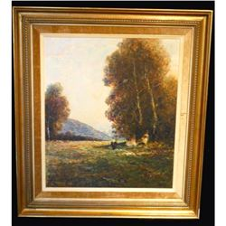 Student of Otto Strutzel, German Impressionist Landscape Oil Painting