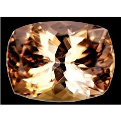 11.95ct Natural Golden Cushion Shape Topaz