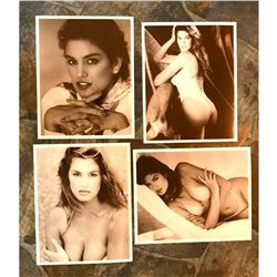 Group of Early 1990's Sepia Photo Images, Supermodel Cindy Crawford