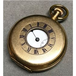 Early 1900's Waltham, Dennison Star Gold Half Hunter Pocket Watch