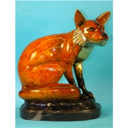 Signed, Limited Edition Bronze Sculpture, Fox