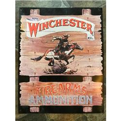 Winchester Firearms Metal Pub Bar Sign