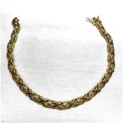 Gold & Diamond Tennis Bracelet