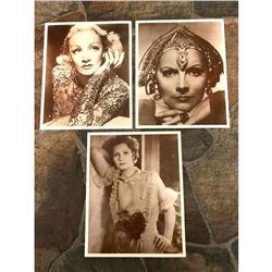 Set of Early 1990's Sepia Tone Photo Images, Greta Garbo, Movie Star