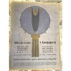 1920's Art Deco Advertisement, Paris Designer, Madeleine Vionnet