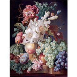 Floral & Fruit Still Life Porcelain Tile