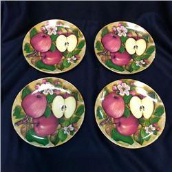 Set of Limoges Porcelain Fruit, Dessert, Apple Dishes