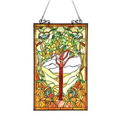 Fruit of Life Tree Stained Glass Art Panel