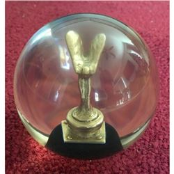 ROLLS ROYCE Paperweight Globe With Flying Lady