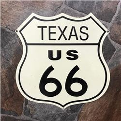 Vintage-style Texas Route 66 Metal Garage Pub Bar Sign