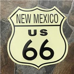 Vintage-style New Mexico Route 66 Metal Garage Pub Bar Sign