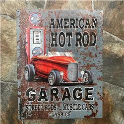 American Hot Rod Garage Street Rods Muscle Cars Metal Pub Bar Garage Sign