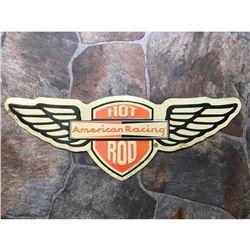 Hot Rod American Racing Wings Metal Garage Pub Bar Sign