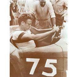 James Dean Ferrari Race Car Sepia Tone Photo Print
