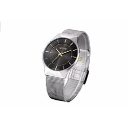 Affute Ultra Thin Dial Analog Display Quartz Mesh Band Wristwatch