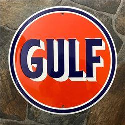 Gulf Gasoline Metal garge Pub Bar Sign