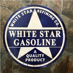 White Star Gasoline Metal Garage, Pub Bar Sign