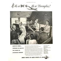 1948 Doublas DC-6 Airliner Magazine Advertisement