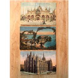 Early 20thc Travel Postcards, Europe, Monaco, Italy