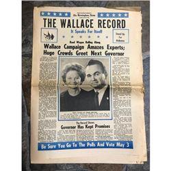 1966 George Wallace Birmingham News, Political Advertisement Supplement Newspaper