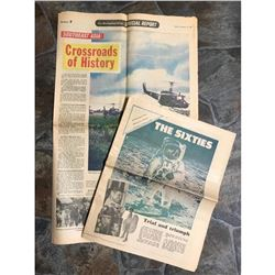 Vintage 1960's Newspapers, Viet Nam & History of the 1960's
