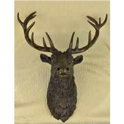 Life Size Bronze Elk Deer Mount Trophy Sculpture