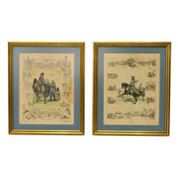 c1834 Framed French Military Plates