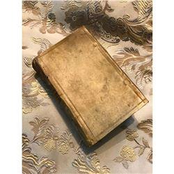 Early 17thc Latin Book, Vellum Covers, Jesuit Priest Martin Becanus, De Triplici Sacrificio Naturae