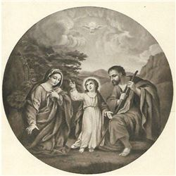 Vintage c.1920's Half-tone Print, #676 The Holy Family