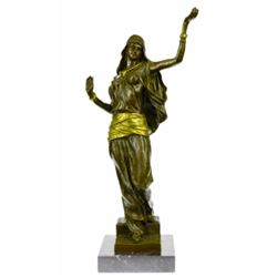 Orientalist Style Gilt Bronze Sculpture, Dancer