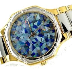 Amazing 200cts Mosaic Opal Mother of Pearl Inlaid Watch