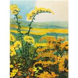 1920's Goldenrod, Color Lithograph Print