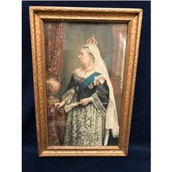 Early 20thc Queen Victoria Framed Color Lithograph