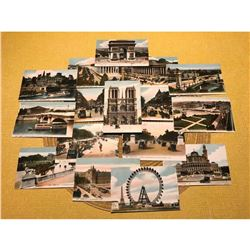 French Belle Epoque, Paris Scenes, Grand Tour Postcards