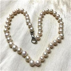 "9-10mm White Cultured Pearls 18"" Necklace"