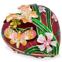 Large Valentine Heart Shaped Jewelry, Trinket Box