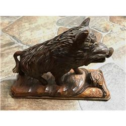 Vintage German Black Forest Wild Boar Carving