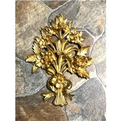 Florentine Italian Gilt Floral Wall Decoration