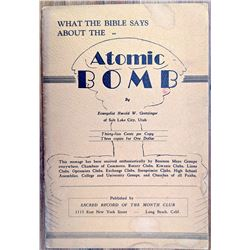 What The Bible Says About The Atomic Bomb, 1948