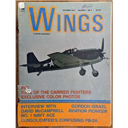 Wings Fighter Aircraft Magazine 1974, 100s of b/w photos