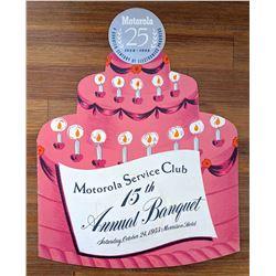 Motorola Serve Club 25th Anniversary Banquet, 1953