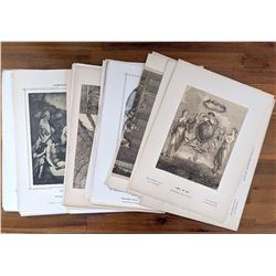 Set with More than 50 Antique Lithos Classical Artists