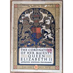Original Programme Coronation Queen Elizabeth Second