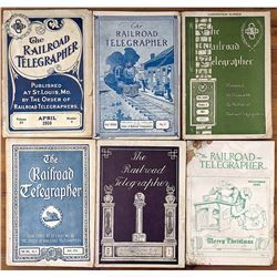 Antique Set with 6 Railroad Telegrapher Booklets, 1910s