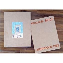 Book Art William Brice Notations 1982