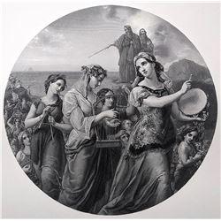 WILLIAM HENSEL Museum Quality Antique Engraving, 1855