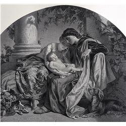 JOSEPH VAN LERIUS Museum Quality Antique Engraving, 1855