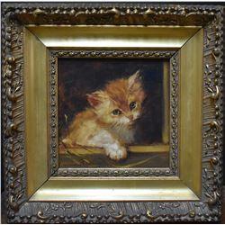 Stephanie Emma Clothilde Ronner (1860 - 1936) Kitten